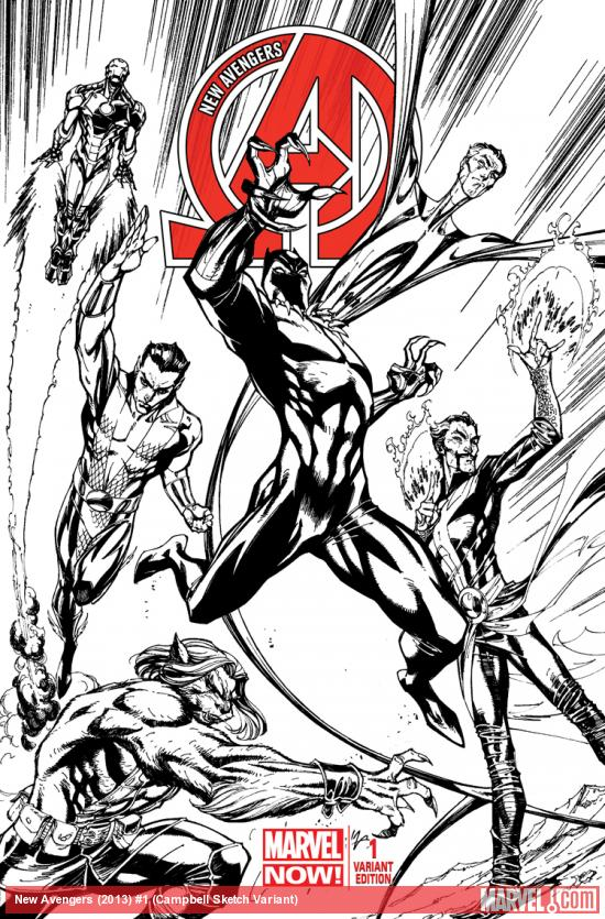 cover from New Avengers (2013) #1 (TBD ARTIST 2 SKETCH VARIANT)