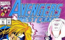Avengers West Coast #91 cover