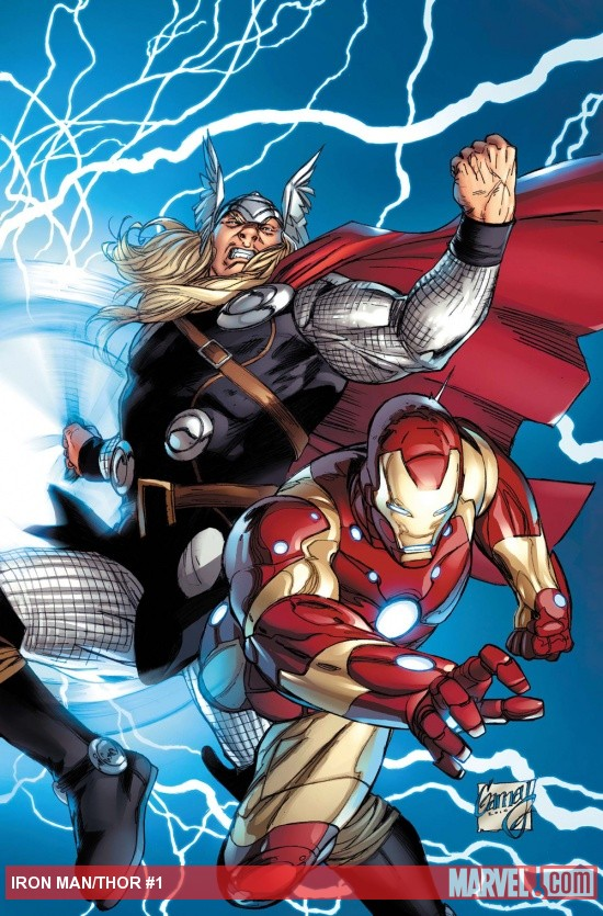 Iron Man/Thor #1 cover by Ron Garney