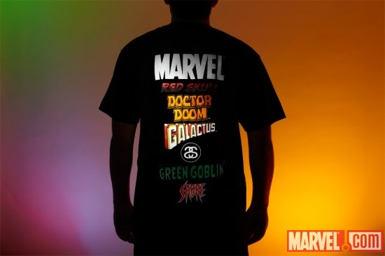 The Stussy x Marvel Project- World Tour Tee Back