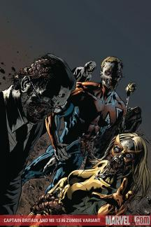 Captain Britain and MI: 13 (2008) #6 (ZOMBIE VARIANT (1 FOR 10))