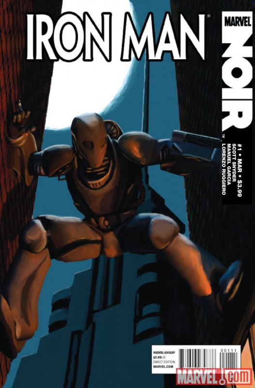 IRON MAN NOIR #1  cover by Mike Fyles