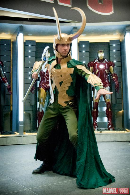 SDCC 2012: Loki Cosplayer at Marvel Costume Contest Sponsored by K by Cirque du Soleil
