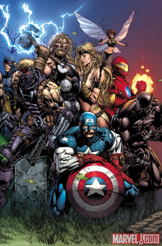 Image Featuring Giant-Man (Ultimate), Iron Man (Ultimate), Wasp (Ultimate), Thor (Ultimate), Hawkeye (Ultimate), Valkyrie (Ultimate), Ultimates