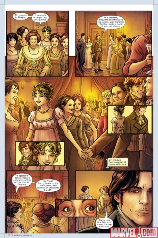 PRIDE &amp; PREJUDICE #1 preview art by Hugo Petrus