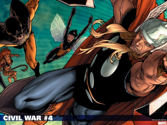 Civil War (2006) #4 Wallpaper