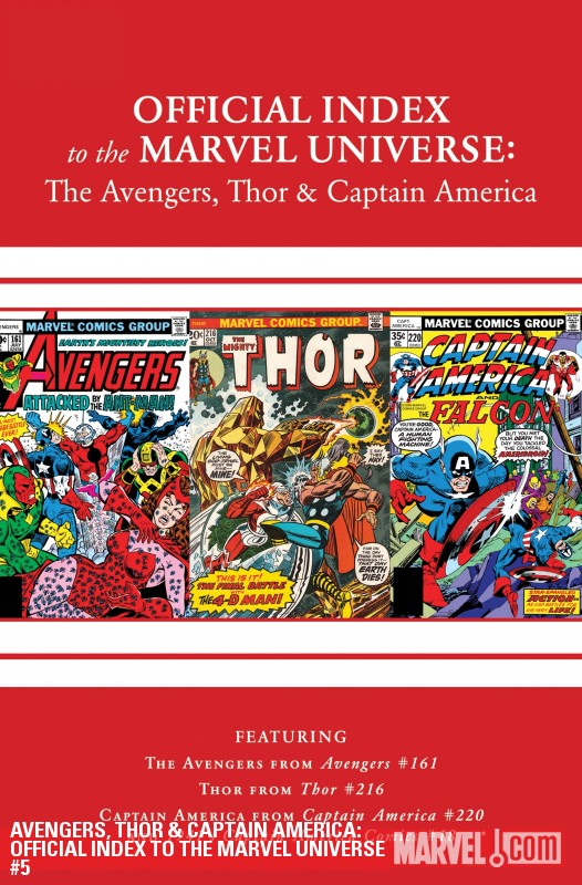 Avengers, Thor &amp; Captain America: Official Index to the Marvel Universe (2010) #5