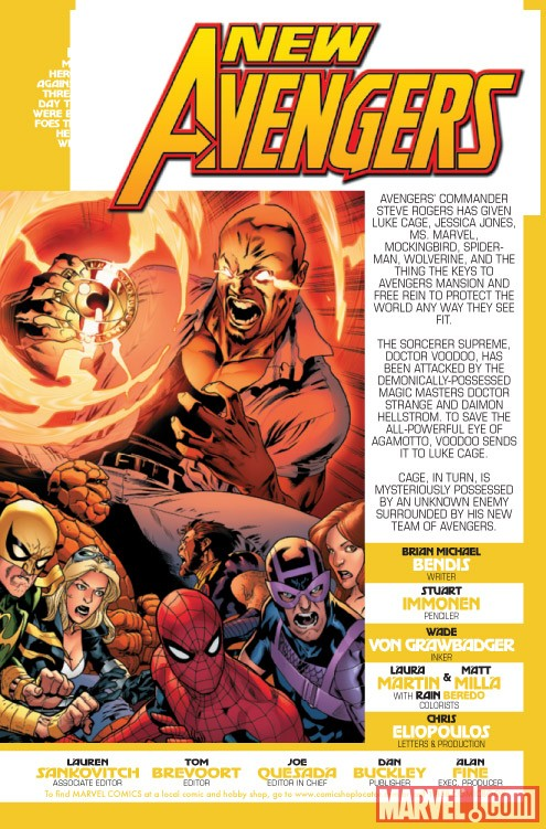 NEW AVENGERS #2 recap page