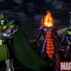 Screenshot of Dormammu, Dr. Doom and Super Skrull from Marvel vs. Capcom 3