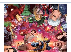 Marvel vs. Capcom: Official Complete Works Promotional Art by Shinkiro