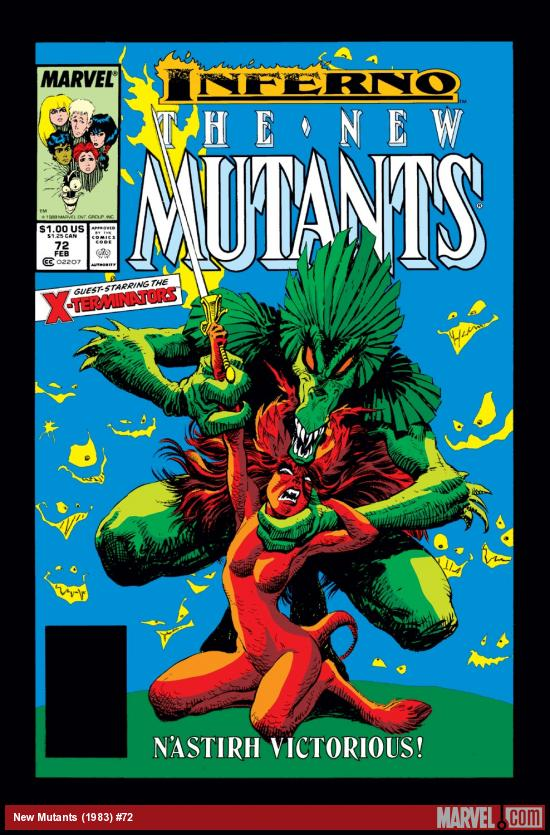 New Mutants (1983) #72 Cover