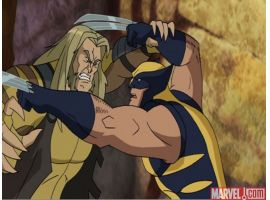 """Wolverine and the X-Men"" Epsiode 14 Screenshot #6 - Sabretooth and Wolverine"