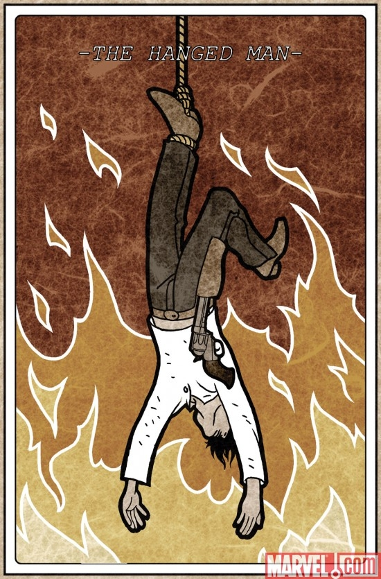 The Hanged Mn tarot card