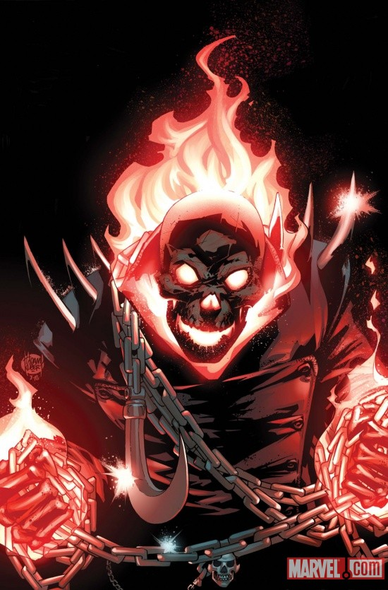 Ghost Rider (2011) #1 cover by Adam Kubert