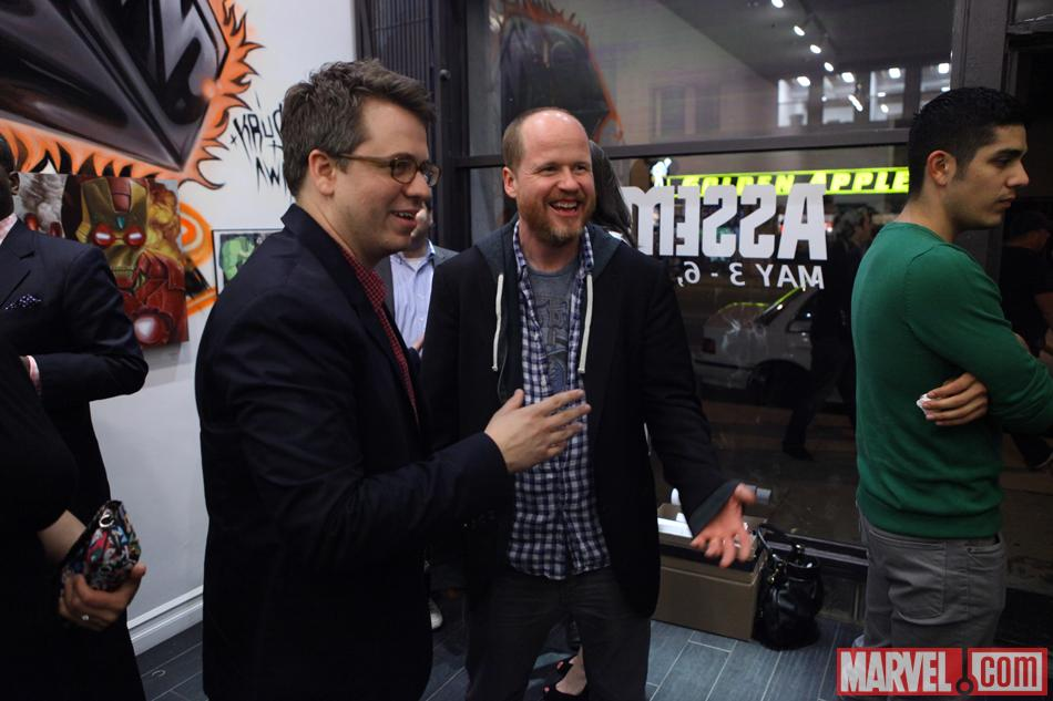 Director Joss Whedon and Executive Producer Jeremy Latcham at Gallery1988 in Los Angeles