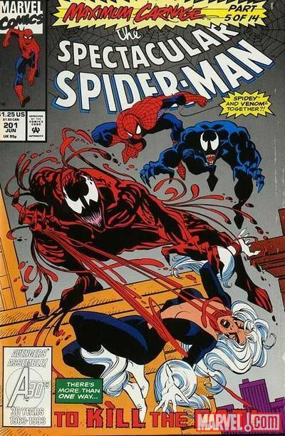 Image Featuring Toxin (Eddie Brock), Black Cat, Carnage