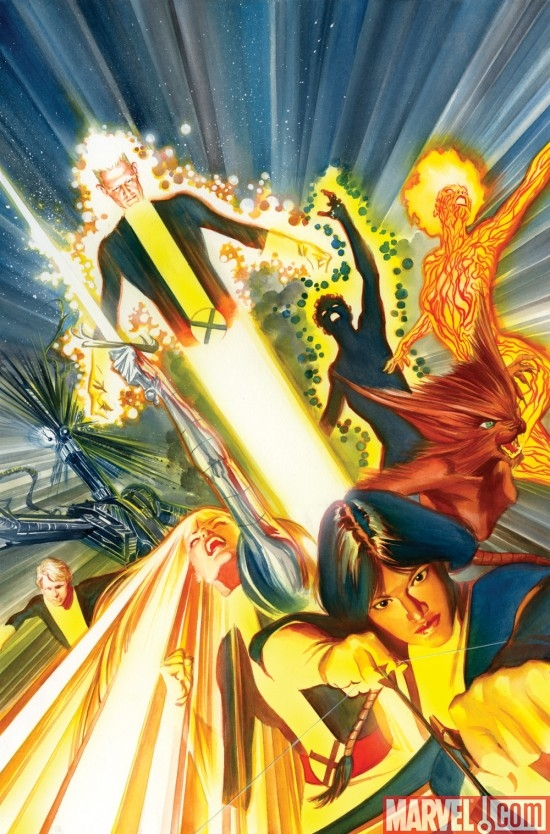 NEW MUTANTS #1 cover by Alex Ross