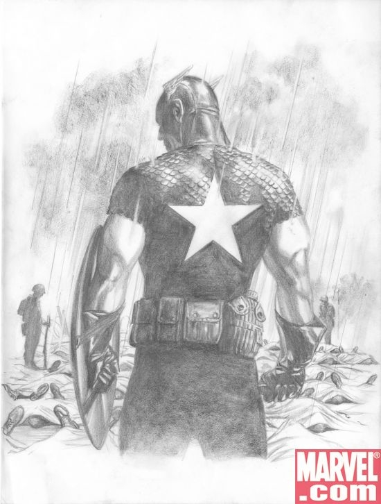 Captain America sketch by Alex Ross