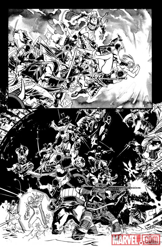 THUNDERBOLTS #148 black and white preview art by Declan Shalvey 8