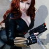 New York Comic Con 2011: DeAnna Davi cosplaying as the Black Widow