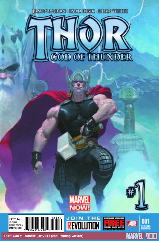 Thor: God of Thunder (2012) #1 (2ND PRINTING VARIANT)