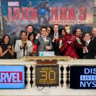 Robert Downey, Jr. Rings the Opening Bell at the NYSE