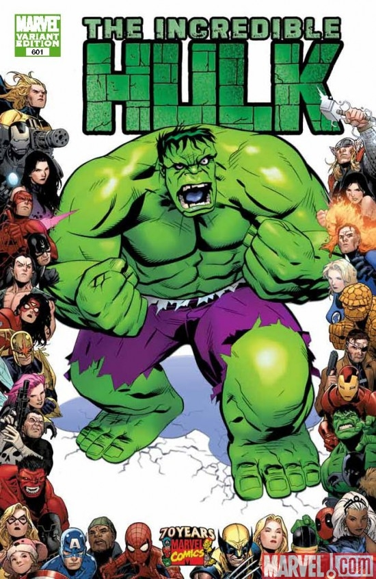 INCREDIBLE HULK #601 cover by Michael Golden