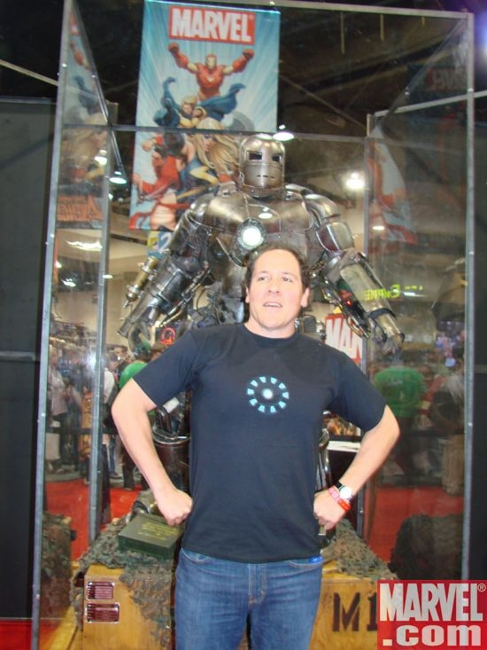 Jon Favreau and the Iron Man armor
