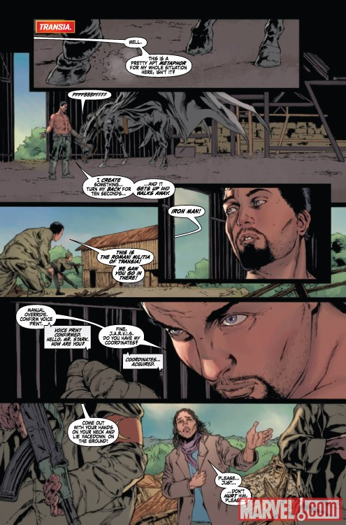 IRON MAN LEGACY #4 preview art by Steve Kurth