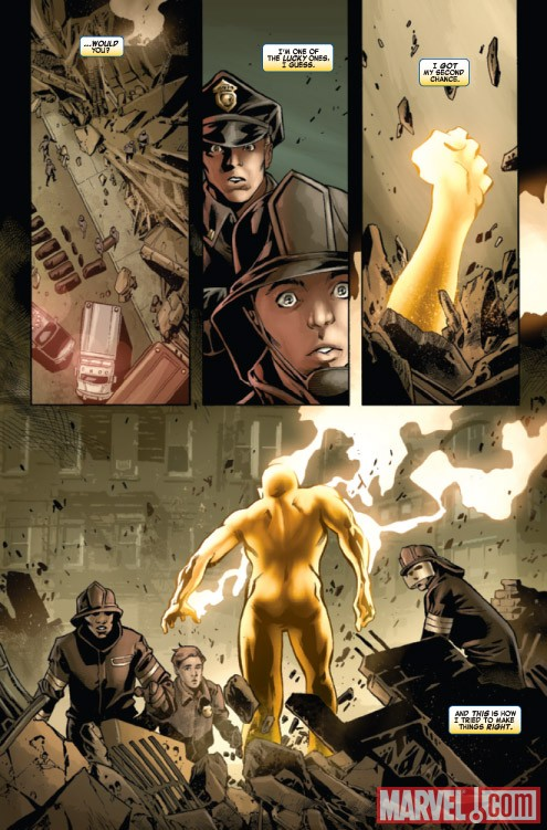Shadowland: Power Man #1 preview art by Mahmud Asrar