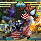 Screenshot of Captain America vs. Ryu from Marvel vs. Capcom 3