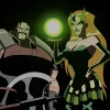 Screenshot of the Enchantress and Executioner from The Avengers: Earth's Mightiest Heroes!