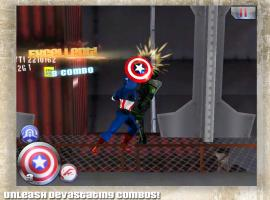 Screenshot from Captain America: Sentinel of Liberty for the iPad