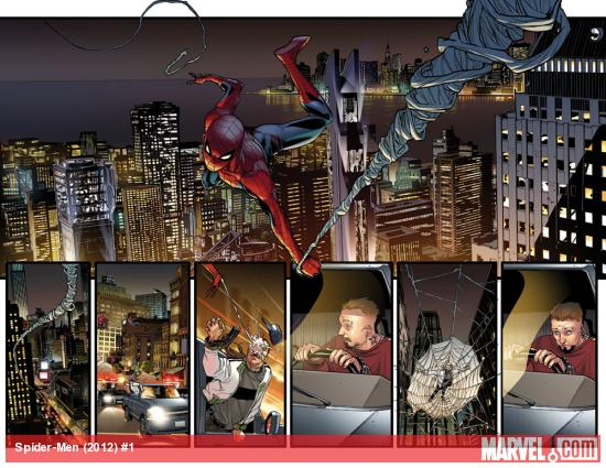 Spider-Men #1 preview art by Sara Pichelli