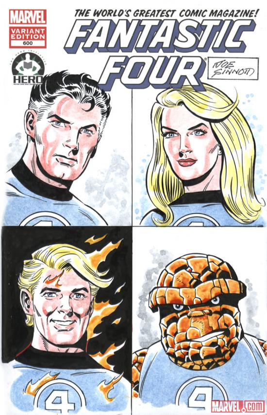 Fantastic Four #600 Hero Initiative variant cover by Joe Sinnott