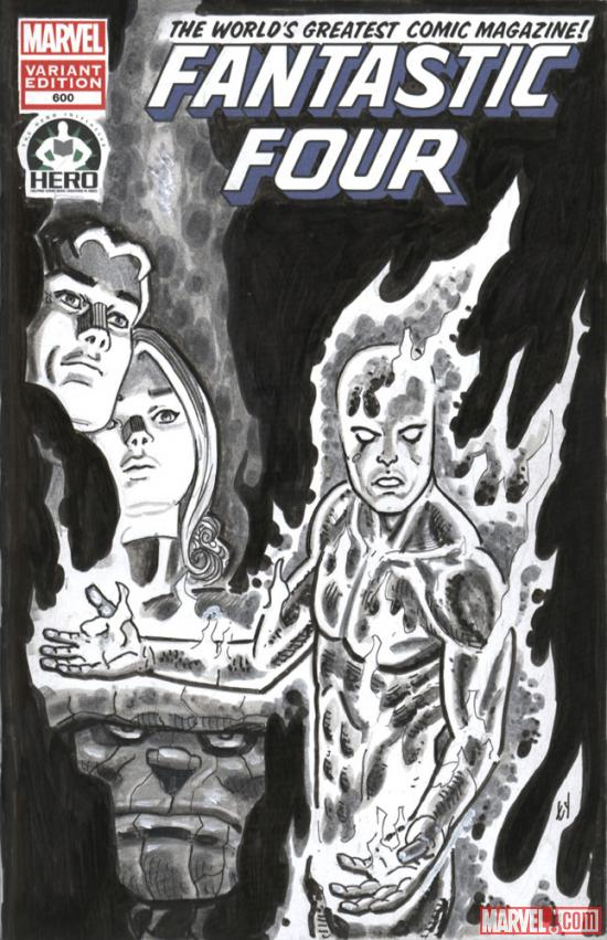 Fantastic Four #600 Hero Initiative variant cover by Ty Templeton