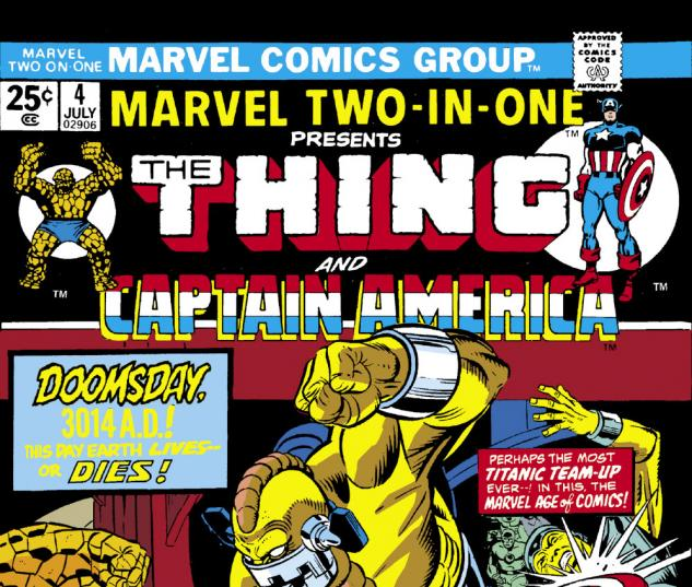 Marvel Two-in-One (1974) #4 Cover
