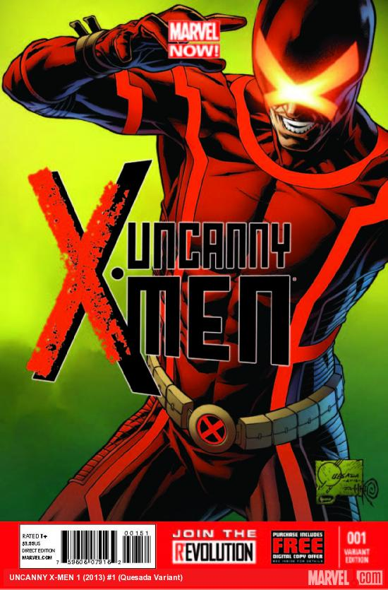 UNCANNY X-MEN 1 QUESADA VARIANT (NOW, 1 FOR 100, WITH DIGITAL CODE)