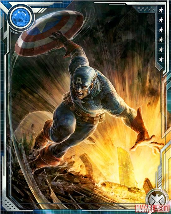Captain America card art from Marvel War of Heroes