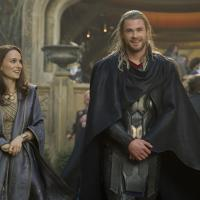 Natalie Portman and Chris Hemsworth star as Jane Foster and Thor in Marvel's Thor: The Dark World