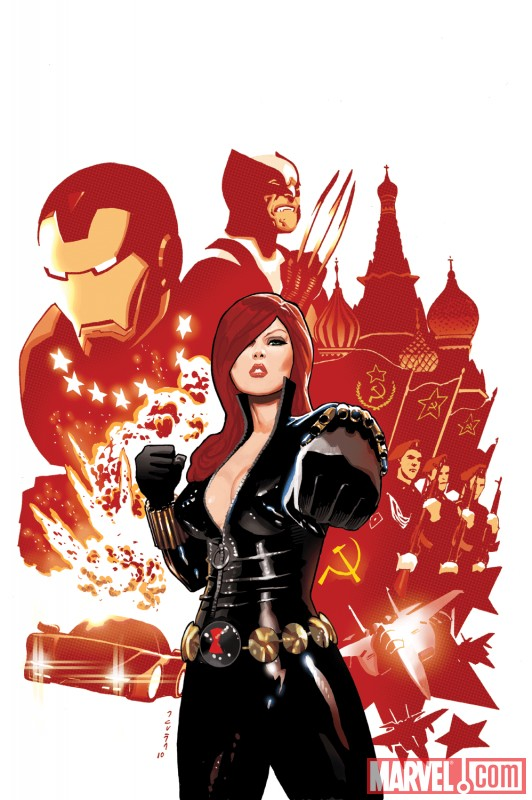 BLACK WIDOW #1 cover by Daniel Acuٌa