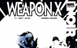 WEAPON X NOIR ONE-SHOT #1 variant cover by Dennis Calero
