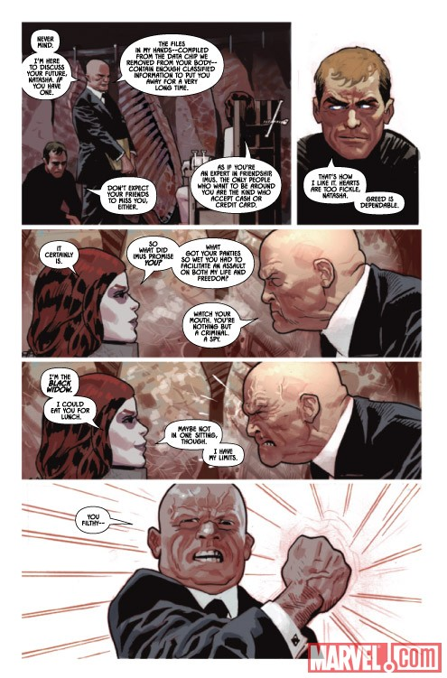 Black Widow #5 preview art by Daniel Acuna