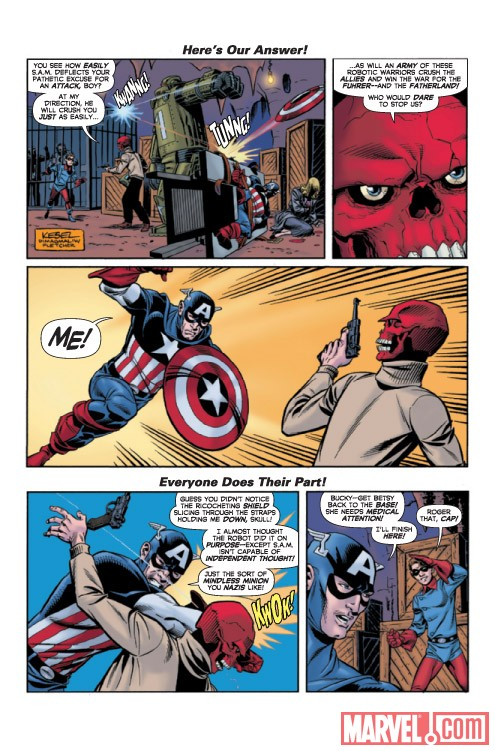 Captain America: The 1940s Newspaper Strip #3 preview art by Karl Kesel