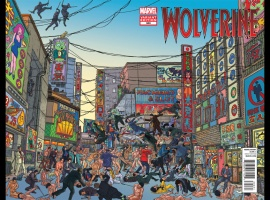 Wolverine #300 variant cover by Geof Darrow