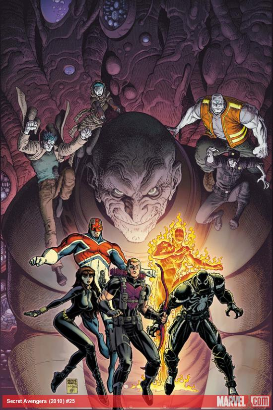 Secret Avengers #25 cover art by Arthur Davis