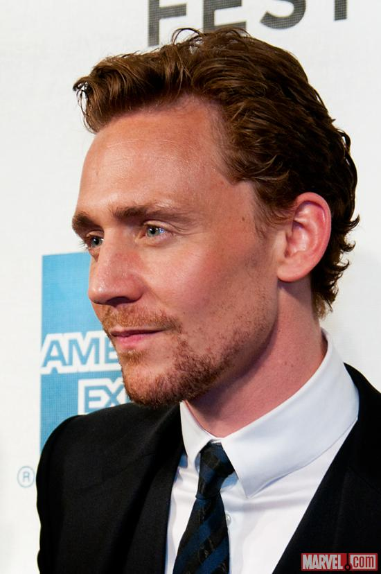 Tom Hiddleston at the Tribeca Film Festival screening of Marvel's The Avengers