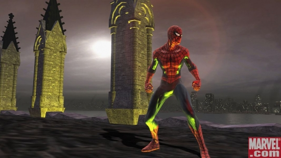 Spider-Man overlooks the New York skyline