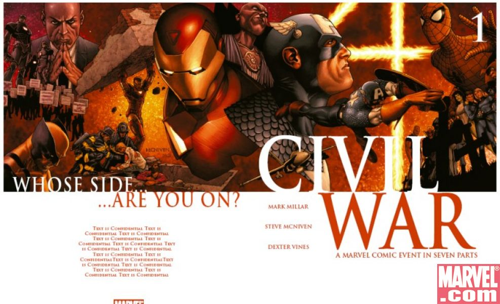 Civil War #1 (McNiven cover)