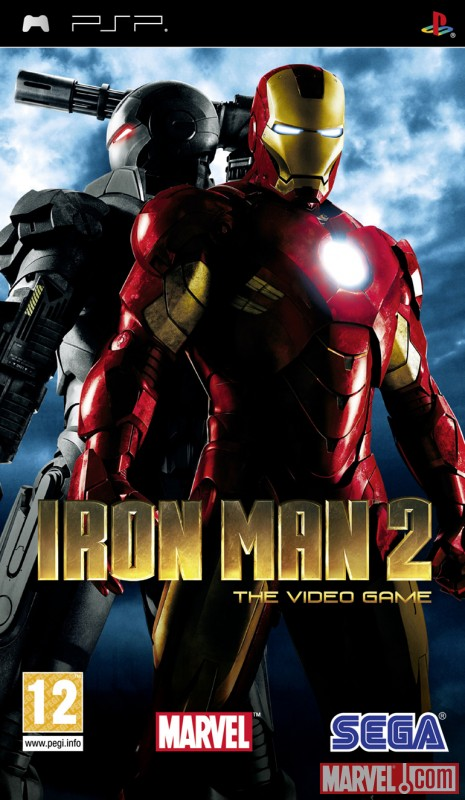 Iron Man 2: The Video Game PSP European box art